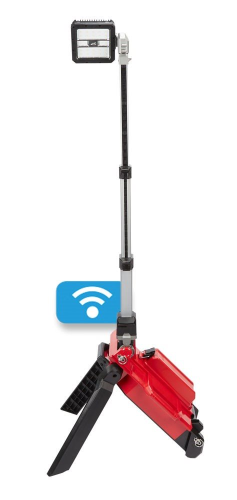 New Milwaukee® M18™ ONE-KEY™ LED Remote Stand Light Provides High Definition Adjustable Lighting for