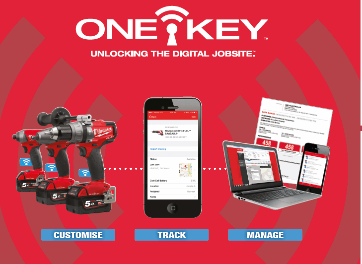 Milwaukee® Introduces Integrated Tool Security with all ONE-KEY™ Tools